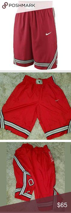 Nike Ohio State Buckeyes Basketball Shorts Nike Ohio State Buckeyes Basketball Shorts Red Gray 00027566 Size Large  Inseam 12.75 inches. 25.5 inches long.  AB Nike Shorts Athletic