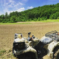 "Fan photo of the day! ""planting on the farm. Getting it done!"" from Chris #yamahagrizzly"