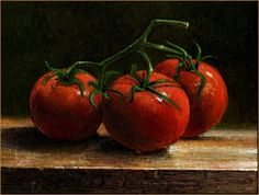 Tomatoes: On the Vine, original painting by artist Paul Wolber ...
