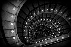 Stairs, Architecture, Black and White, Modern Photography, via Etsy. Modern Photography, Black And White Photography, Black And White Stairs, Outside Steps, Runaway Train, Photo Dream, Beautiful Stairs, Stairs Architecture, Stairway To Heaven