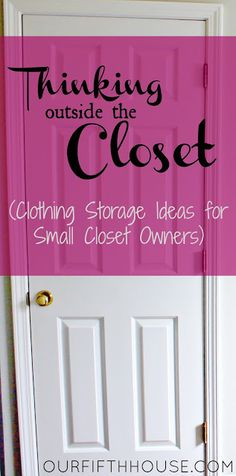 small closet organization ideas - this cite shows great ideas of how to give more space in your closet by maximizing hidden potential in your BEDROOM.  Interesting and innovative ideas! Kudos for out of the box thinking!! Love this.