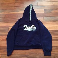 "Aeropostale ""Paradise Beach Life's A Beach"" hoodie Size XL. Navy with pale blue inside. ""Life's A Beach"" written below ""Aeropostale Paradise Beach"". Great condition. Super cozy. Fleece inside lining. 80% cotton and 20% polyester. Make me an offer! Feel free to ask me any questions *I am 5'1"" and typically wear a small/medium, so this is baggy on me and the sleeves are too long. Aeropostale Sweaters"