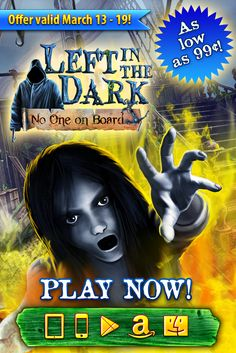 Left in the Dark: No One on Board SALE! Get this spooky hidden object adventure for as low as 99¢ on iPhone, Google Play and Amazon Appstore – and only $1.99 on iPad and Mac – from now through March 19th. Head to Port Evidence, solve tricky puzzles and uncover the mystery surrounding a lost ship that has recently reappeared! Learn more: http://www.g5e.com/sale