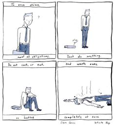 The hard truth that it's not something we can run away from. | 24 Comics That Capture The Frustration Of Anxiety Disorders