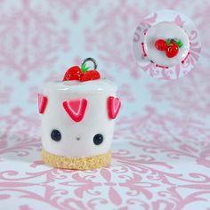 #kawaii #charms #polymer #clay #strawberry #shortcake