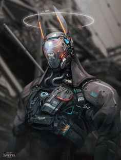 Beautiful Science Fiction, Fantasy and Horror art from all over the world. Arte Tech, Arte Sci Fi, Mode Cyberpunk, Cyberpunk Kunst, Cyberpunk Fashion, Fantasy Character Design, Character Concept, Character Art, Arte Ninja