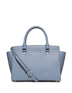 MICHAEL Michael Kors Satchels Selma Saffiano Leather Medium Satchel Bag