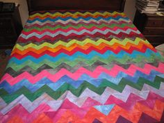 from accuquilt group pictures.  awsome zz quilt using triangle die