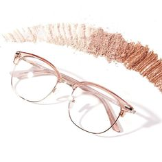 Get ready for spring with neutral glasses in whisper-soft hues. Cute Glasses Frames, Womens Glasses Frames, Glasses Trends, Fashion Eye Glasses, Eyeglasses, Eyewear, Sunglasses Women, Fashion Accessories, Bling