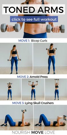 Not fancy just effective These five exercises bicep curl Arnold press skull crushers push ups and bent over row should be staples in every upper body strength training routine arms armworkout tonedarms # Fitness Workouts, Fitness Motivation, Fitness Routines, At Home Workouts, Exercise Motivation, Fitness Quotes, Yoga Fitness, Lifting Motivation, Daily Exercise Routines