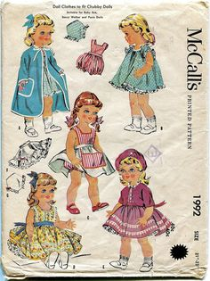 1950s Vintage Doll Clothes for Chubby by DesignRewindFashions