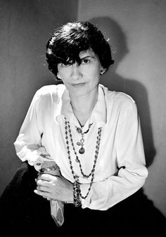 Coco Chanel in black white I never thought of her as pretty but what clothes she could make. Lenett