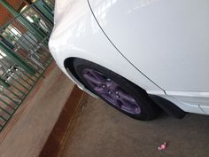 Use plasti dip to change out the color of your rims.