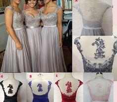 Couture nuptiale normal demoiselle d'honneur robes sweetheart décolleté avec bretelles perlées corsages étage longueur en mousseline de soie...