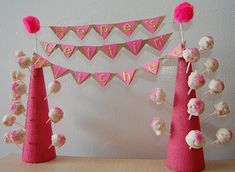 DIY cake pop stand... With more cake pops and different size cones