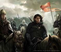 Magali Villeneuve Portfolio: The Lord of the Rings LCG : Aragorn and the Rohirr...