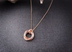 Rose Gold Birthday Necklace | 30th Birthday Gift for Her MarciaHDesigns
