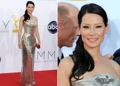 Emmy Awards: Lucy Liu dazzled in a silver Atelier Versace gown.