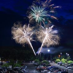 """Spectacular fireworks display at the Perkasie Auto Show, captured by Instagram user @sayhellotoamerica during the 2014 """"Capture Your #BucksCountyMoment Photo + Video Challenge."""""""