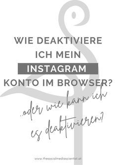 Wie lösche ich mein Konto aif Instagram? Pinterest Profile, Social Media, Marketing, Easy, Not Interested, Blogging, Tips And Tricks, Products, Studying