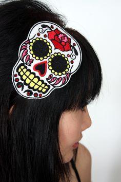 Sugar skull headband Dia de los muertos