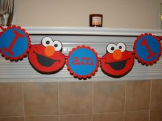 Elmo High Chair First Birthday Banner by KraftingwithPatty on Etsy, $11.50