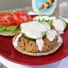 Healthy veggie burgers made with quinoa and feta