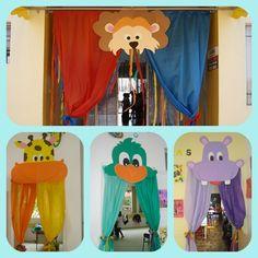 portas decoradas de sala de aula - animais