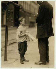 selling newspapers, philadelphia