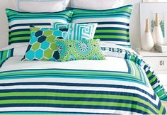 Stripes & summer, some things just go together. Give your bedroom a fresh look with eye-popping prints and cool shades.http://www.allmodern.com/deals-and-design-ideas/Summer-Stripes~E22405.html?refid=SBP.rBAZEVW6rHEVGlbgRR74As0lJFbmiUcNuRN3d3HYYDA