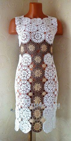 Авторское платье Милена. Работа Олеси Петровой вязание и схемы вязания