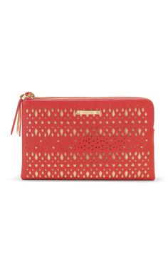 Stella & Dot Double Clutch Geranium Perf $89 Available at StellaDot.com/KrystalS. #obsessed #musthave