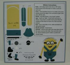 Minion's punch art http://www.stampinfantastic.co.nz/home/138-something-old-something-new.html