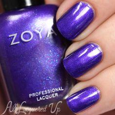 Zoya Isa nail polish swatch - Summer 2015 Paradise Sun collection via @alllacqueredup