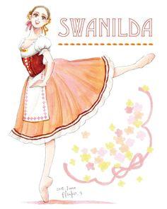 Ballet Illustration, Dancer Drawing, Ballet Costumes, Art Tutorials, Art Drawings, Aurora Sleeping Beauty, Scrap, Art Prints, Princess
