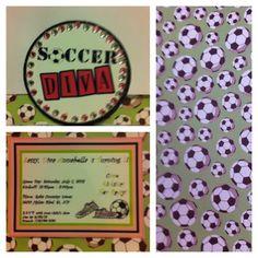 Soccer Diva Birthday Invitation