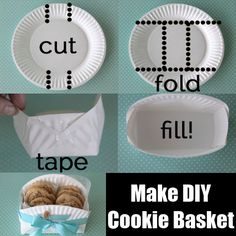 paperplate DIY cookie basket - Google Search