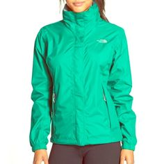 "24 Hr Sale The North face Waterproof Rain Jacket Selling the Women's Resolve Rain jacket from The North Face in the color ""Kokomo Green."" Made of 100% nylon and is lightweight. Has a hood. In great condition. No rips. Ask about the tiny unnoticeable stain on the back of the elbow sleeve. SIZE MEDIUM. :) Open to offers! The North Face Jackets & Coats Utility Jackets"
