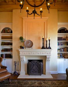 1000 images about tuscan home 416 on pinterest stone for Mediterranean fireplace designs