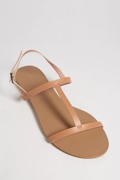 Product Name:Faux Leather T-Strap Sandals, Category:Shoes, Price:12.9