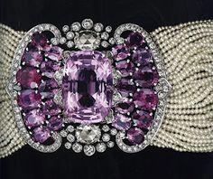 Cartier Biennale 2010 Natural Pearl, Amethyst & Diamond Choker - it's not too fancy for work, is it? Naaaah.
