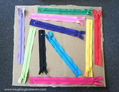 Zipper sensory board DIY