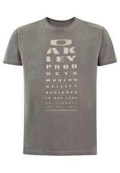 Camiseta MC Oakley Eye Chart Jet Black - Compre Agora | Dafiti Brasil