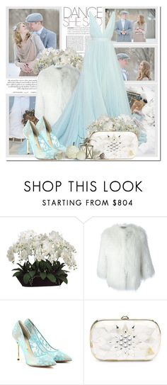 """""""Winter Wedding"""" by antemore-765 ❤ liked on Polyvore featuring Allstate Floral, Yves Salomon, Nicholas Kirkwood and Judith Leiber"""