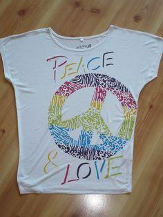 Simple s es wei es T Shirt Tunika mit Aufdruck von bpc bonprix Gr