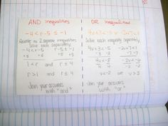 Math = Love: Algebra 1 INB Pages over Multi-Step Equations and Inequalities