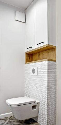 Łazienka: styl , w kategorii Łazienka zaprojektowany przez DW SIGN Pracownia Architektury Wnętrz Interior Design Studio, Bathroom Interior Design, Interior Design Living Room, Wc Design, Interior Colors, Nordic Interior, Shelf Design, Studio Design, Interior Modern