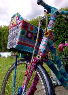 Min yarnbombede cykel.
