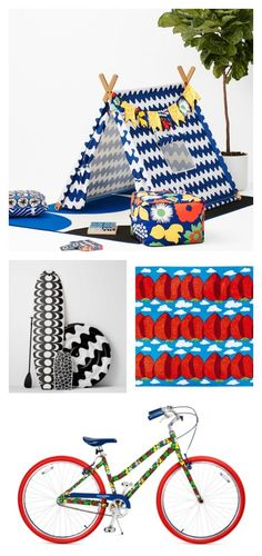 Tons of bright, fun outdoor items in the new Marimekko for Target collection. We want them all!