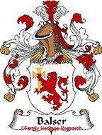 Balser German Coat of Arms Print Family Crest Balser
